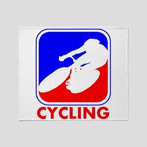 Cycling League Logo Throw Blanket