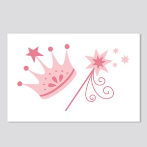 Princess Crown Wand Postcards (Package of 8)
