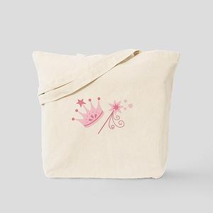 Princess Crown Wand Tote Bag