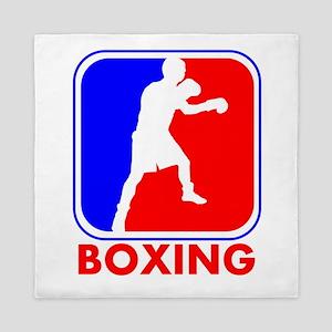 Boxing League Logo Queen Duvet