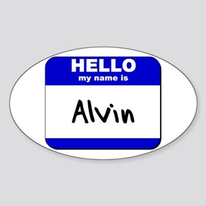hello my name is alvin Oval Sticker