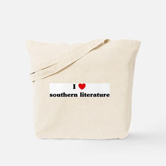 I Love southern literature Tote Bag