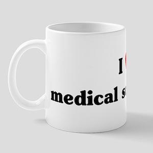 I Love medical social work Mug