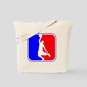 Basketball League Logo Tote Bag