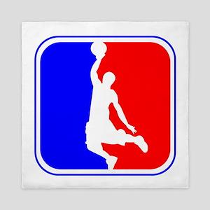 Basketball League Logo Queen Duvet