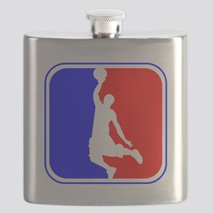 Basketball League Logo Flask
