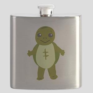 Cartoon Turtle Flask