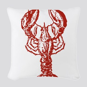 Red Lobster Woven Throw Pillow