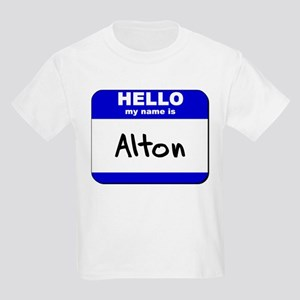 hello my name is alton Kids Light T-Shirt