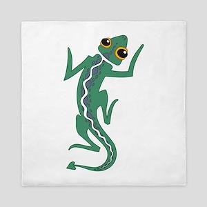 Green Lizard Queen Duvet