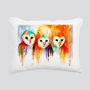 Row Of Owls ~ Rectangula Rectangular Canvas Pillow