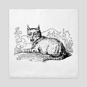 Lynx Sketch Queen Duvet