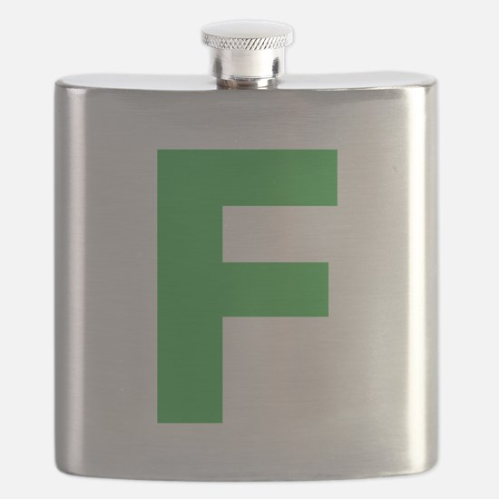 Letter F Green Flask