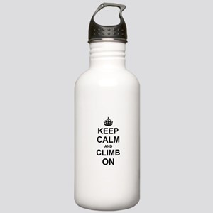 Keep Calm and Climb on Sports Water Bottle