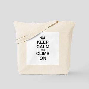 Keep Calm and Climb on Tote Bag