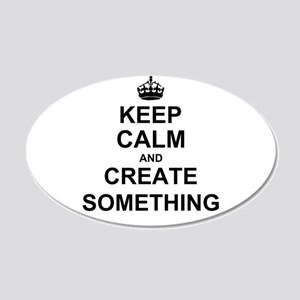 Keep Calm and Create Something Wall Sticker