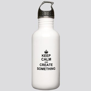 Keep Calm and Create Something Sports Water Bottle