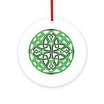 Celtic Clover Mandala Ornament (Round)