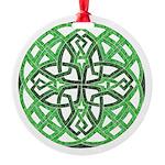 Celtic Clover Mandala Round Ornament