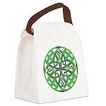 Celtic Clover Mandala Canvas Lunch Bag