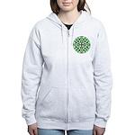 Celtic Clover Mandala Women's Zip Hoodie