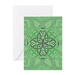 Celtic Clover Mandala Greeting Card