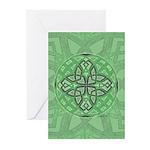 Celtic Clover Mandala Greeting Cards (Pk of 10)