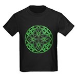 Celtic Clover Mandala Kids Dark T-Shirt