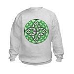 Celtic Clover Mandala Kids Sweatshirt