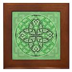 Celtic Clover Mandala Framed Tile