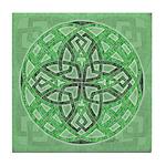 Celtic Clover Mandala Tile Coaster