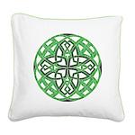 Celtic Clover Mandala Square Canvas Pillow