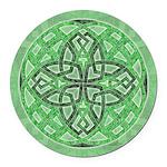 Celtic Clover Mandala Round Car Magnet