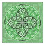Celtic Clover Mandala Square Car Magnet 3