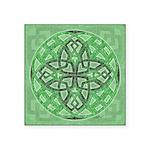Celtic Clover Mandala Square Sticker 3