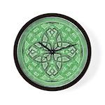 Celtic Clover Mandala Wall Clock