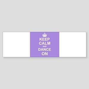 Keep Calm and Dance on Bumper Sticker