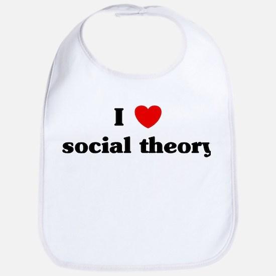 I Love social theory Bib