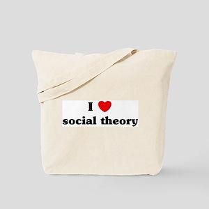I Love social theory Tote Bag