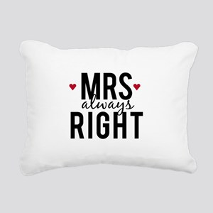 Mrs. always right text design with red hearts Rect