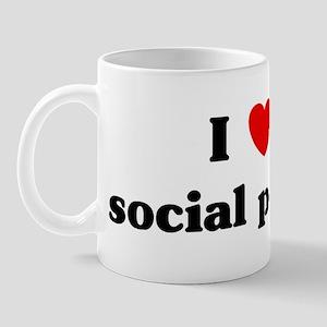 I Love social policy Mug