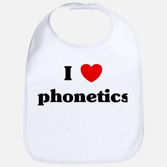 I Love phonetics Bib