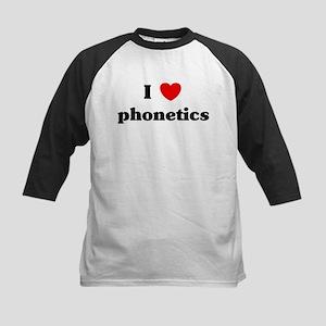 I Love phonetics Kids Baseball Jersey