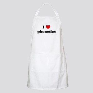 I Love phonetics BBQ Apron