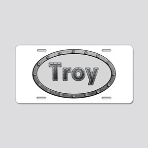Troy Metal Oval Aluminum License Plate
