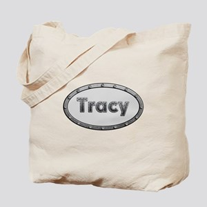 Tracy Metal Oval Tote Bag