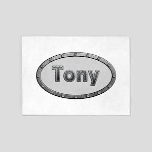 Tony Metal Oval 5'x7'Area Rug