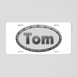 Tom Metal Oval Aluminum License Plate
