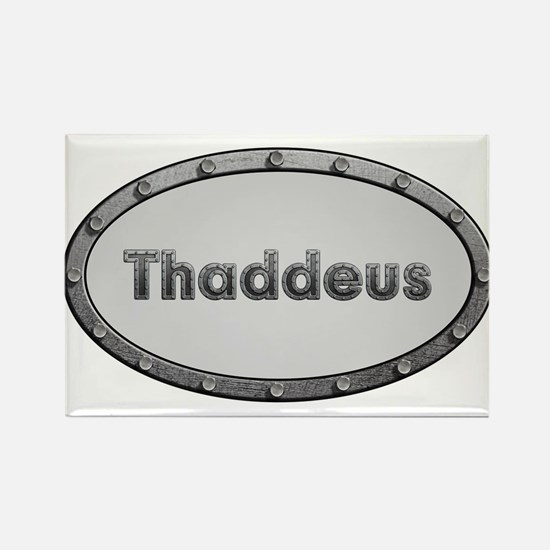 Thaddeus Metal Oval Magnets