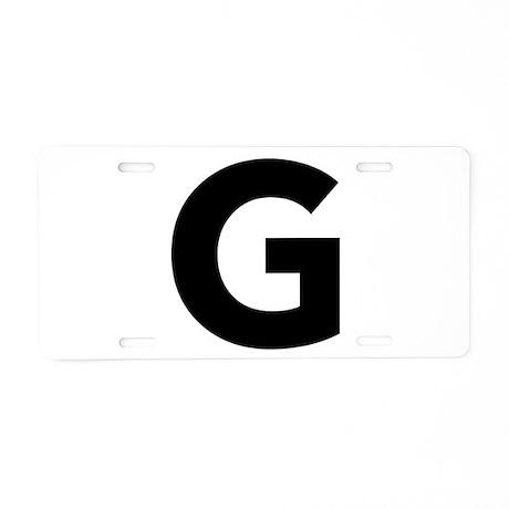 Letter G Black Aluminum License Plate by lettersandnames